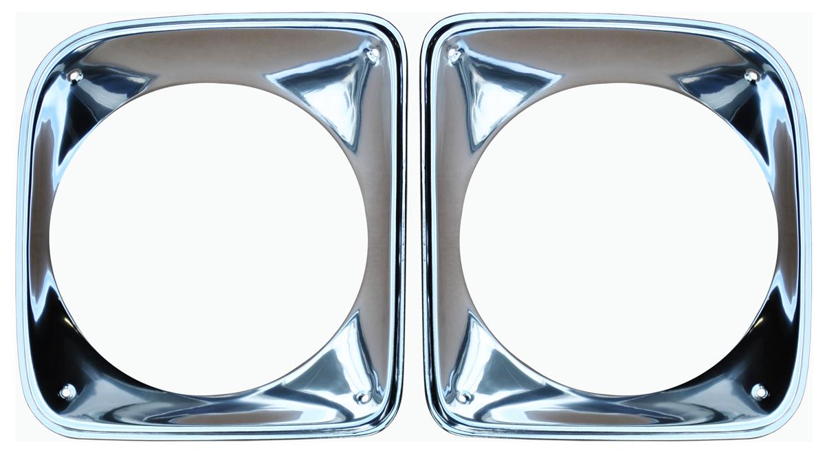 1967-68 GM truck headlight bezel set